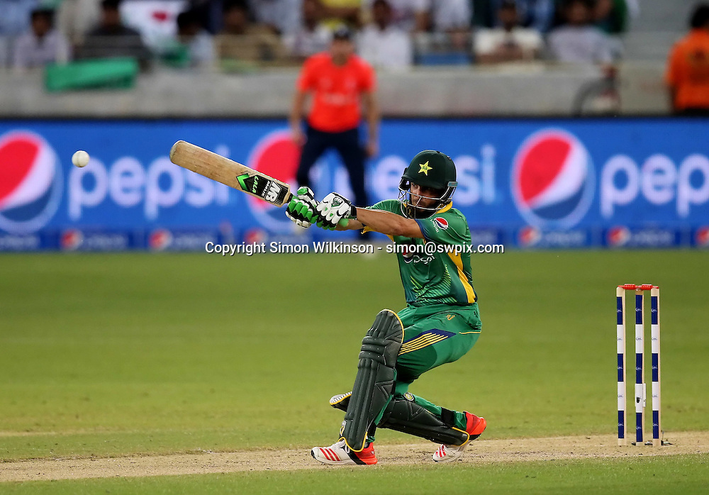 PICTURE BY MARK GREEN/SWPIX.COM  Pakistan v England 1st T20, Dubai Internayional Stadium, UAE, 26/11/15 Pakistan's Rafatullah Mohmand made his debut & scored 16