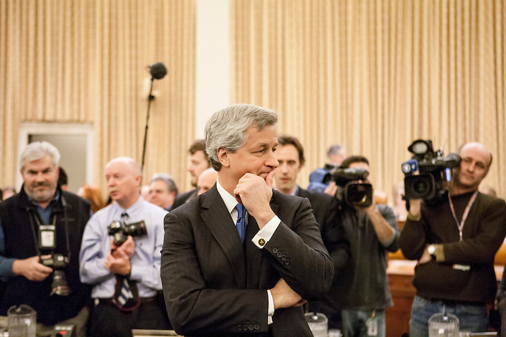JP Morgan Chase CEO Jamie Dimon testifies before the Financial Crisis Inquiry Commission on January 13, 2010 in Washington, DC. The Congressionally-appointed panel held its first hearing to investigate the causes of the recent financial crisis.