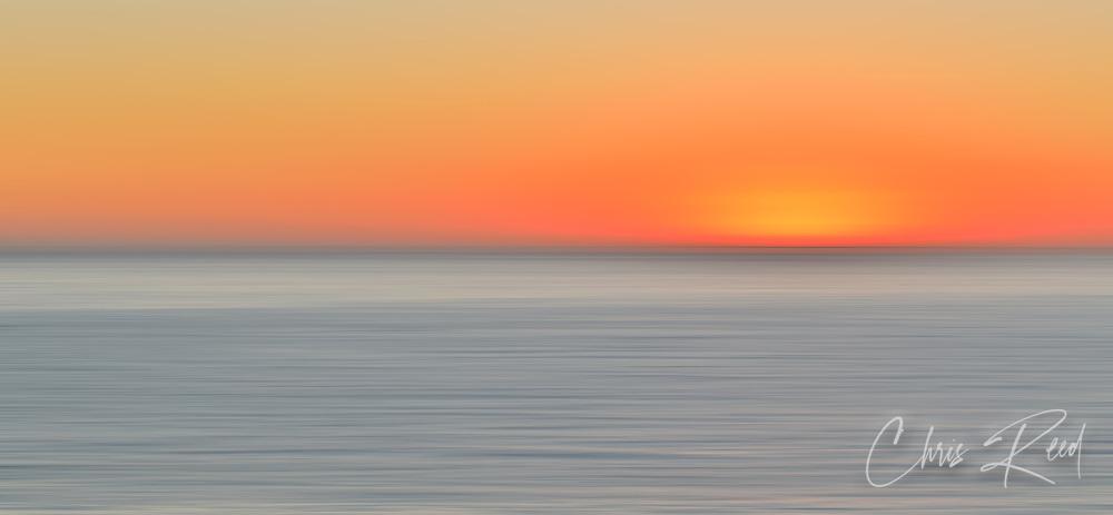 USA, California, Ranchos Palos Verdes. Abstract sunset.
