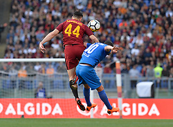 April 7, 2018 - Rome, Italy - Kostas Manolas, Valentin ysseric during the Italian Serie A football match between A.S. Roma and ACF Fiorentina at the Olympic Stadium in Rome, on april 07, 2018. (Credit Image: © Silvia Lore/NurPhoto via ZUMA Press)