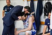 Gianmarco Pozzecco, Jack Cooley<br /> AX Armani Exchange Olimpia Milano - Banco di Sardegna Dinamo Sassari<br /> LBA Serie A Postemobile 2018-2019 Playoff Semifinale Gara 2<br /> Milano, 31/05/2019<br /> Foto L.Canu / Ciamillo-Castoria