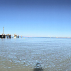 Fishing Village Panorama, China Camp State Park, San Rafael, California, US