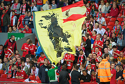 LIVERPOOL, ENGLAND - Thursday, August 5, 2010: Liverpool fans' banner of Fernando Torres during the UEFA Europa League 3rd Qualifying Round 2nd Leg match against FK Rabotnicki at Anfield. (Pic by: David Rawcliffe/Propaganda)