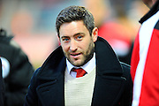 Bristol City manager Lee Johnson before the Sky Bet Championship match between Bristol City and Rotherham United at Ashton Gate, Bristol, England on 5 April 2016. Photo by Graham Hunt.