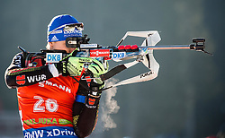 Andreas Birnbacher (GER) competes during Men 12,5 km Pursuit at day 3 of IBU Biathlon World Cup 2015/16 Pokljuka, on December 19, 2015 in Rudno polje, Pokljuka, Slovenia. Photo by Vid Ponikvar / Sportida