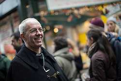 © licensed to London News Pictures. London, UK 16/03/2013. Archbishop of Canterbury the Most Rev Justin Welby walking in Borough Market as he conducts a journey from the City of London to Southwark with prayers on Saturday 16 March 2013. Photo credit: Tolga Akmen/LNP