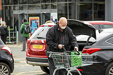 Shoppers take precautions during Covid19 crisis, Edinburgh, 3 April 2020