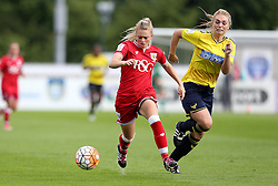 Millie Farrow of Bristol City Women gets past Rosie Lane of Oxford United - Mandatory by-line: Robbie Stephenson/JMP - 25/06/2016 - FOOTBALL - Stoke Gifford Stadium - Bristol, England - Bristol City Women v Oxford United Women - FA Women's Super League 2
