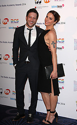 MATT CARDLE WITH MELANIE C arrives for the Radio Academy Awards, London, United Kingdom. Monday, 12th May 2014. Picture by i-Images