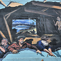 Fishermen and Musicians Mural by Arnie Weimer in Juneau, Alaska <br />