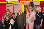 Irish Aid And President Michael D Higgins at National Ploughing Championships, at Ratheniska,