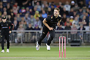 Leicestershire Foxes Will Davis  during the Vitality T20 Blast North Group match between Lancashire Lightning and Leicestershire Foxes at the Emirates, Old Trafford, Manchester, United Kingdom on 30 August 2019.