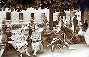 outdoors terrace France at around1920s