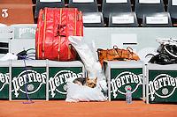 le chien de Serena WILLIAMS  - 21.05.2015 - Qualifications Roland Garros 2015<br />Photo : Nolwenn Le Gouic / Icon Sport