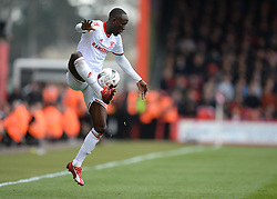 Middlesbrough's Albert Adomah in action. - Photo mandatory by-line: Alex James/JMP - Mobile: 07966 386802 - 21/03/2015 - SPORT - Football - Bouremouth - Goldsands Stadium - Bournemouth v Middlesbrough - Sky Bet Championship