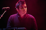 "Rostam Batmanglij of Vampire Weekend performs on September 3, 2010 in support of ""Contra"" at Red Rocks Amphitheater in Morrison, Colorado."