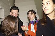 Anouskha Shani. Rachel Whiteread, Haunch of Venison opening party. 28 October 2002. © Copyright Photograph by Dafydd Jones 66 Stockwell Park Rd. London SW9 0DA Tel 020 7733 0108 www.dafjones.com