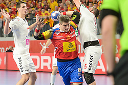 Aguinagalde Julen of Spain during handball match between National teams of Macedonia and Spain on Day 4 in Main Round of Men's EHF EURO 2018, on January 21, 2018 in Arena Varazdin, Varazdin, Croatia. Photo by Mario Horvat / Sportida