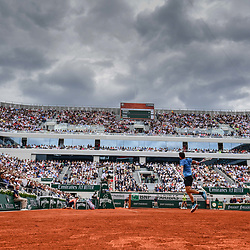 (General view of court Philippe Chatrier) Dominic Thiem (AUT) during the men Final of Roland Garros on June 9, 2019 in Paris, France. (Photo by Anthony Dibon/Icon Sport)