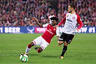 July 15 2017: Arsenal player Ainsley Maitland-Niles (30) at the International soccer match between English Premier League giants Arsenal and A-League team Western Sydney Wanderers at ANZ Stadium in Sydney.