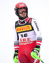 17.02.2019, Aare, SWE, FIS Weltmeisterschaften Ski Alpin, Slalom, Herren, 2. Lauf, im Bild Christian Hirschbuehl (AUT) // Christian Hirschbuehl of Austria reacts after his 2nd run of men's Slalom of FIS Ski World Championships 2019. Aare, Sweden on 2019/02/17. EXPA Pictures © 2019, PhotoCredit: EXPA/ Johann Groder