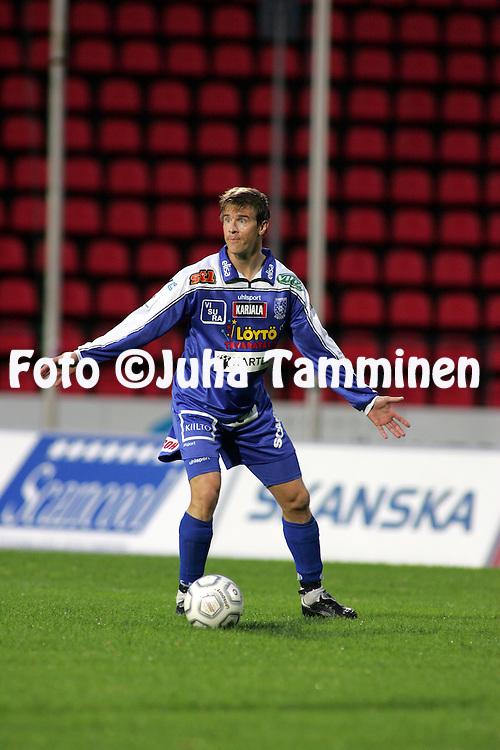 29.08.2005, Ratina, Tampere, Finland..Veikkausliiga 2005 / Finnish League 2005.Tampere United v AC Allianssi.Jussi Kuoppala - TamU.©Juha Tamminen.....ARK:k