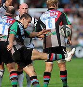 Twickenham, GREAT BRITAIN, Danny CARE, kicking clear, during the Guinness Premiership match,  Harlequins vs Bristol Rugby, at The Stoop Stadium, Surrey on Sat 13.09.2008. [Photo, Peter Spurrier/Intersport-images]