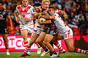 Jazz Tevaga. Auckland Warriors v St George Dragons. NRL Rugby League.Magic Round 2019 Suncorp Stadium, Brisbane, New Zealand. May 11, 2019. © Copyright photo: Patrick Hamilton / www.photosport.nz