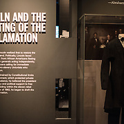 Emancipation Proclamation exhibt titled Changing America: The Emancipation Proclamation, 1863, and the March on Washington, 1963, at the Smithsonian Institution's National Museum of American History on the National Mall in Washington DC.