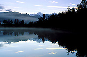 Lake Matheson near Fox Glacier, South island, New Zealand. 1999