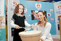 Armed with their brand new no mess flour tubs, The Odlums Roadshow came to Galway Shopping Centre on Saturday. Shoppers queued up to watch icing demo's, win Odlums goodies and taste the delicious Odlums cakes. The Great Irish Bakeoff sponsored by Odlums had contributed to a renewed interest in baking nationwide' . At the event were Sophia Carpenter Roscahilland Doireann Gately from Odlums.<br />  Photo:Andrew Downes.