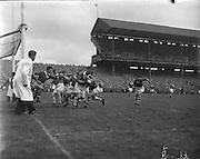 All Ireland Senior Football Championship Final, Louth v Cork .22.09.1957, 09.22.1957, 22st September 1957, Louth 1-09 Cork 1-07, 22091957AISFCF,.