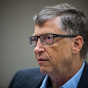 Washington, DC - MAR 12: Billionaire philanthropist Bill Gates during an interview at the Bill and Melinda Gates Foundation offices in Washington, DC, March 12, 2014. Photo by Evelyn Hockstein/For The New York Times)