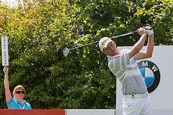 26.06.2014, Golf Club Gut Laerchenhof, Pulheim, GER, BNW International Golf Open, im Bild Lokalmatador Marcel Siem bei einem Abschlag // during the International BMW Golf Open at the Golf Club Gut Laerchenhof in Pulheim, Germany on 2014/06/26. EXPA Pictures © 2014, PhotoCredit: EXPA/ Eibner-Pressefoto/ Schueler<br /> <br /> *****ATTENTION - OUT of GER*****