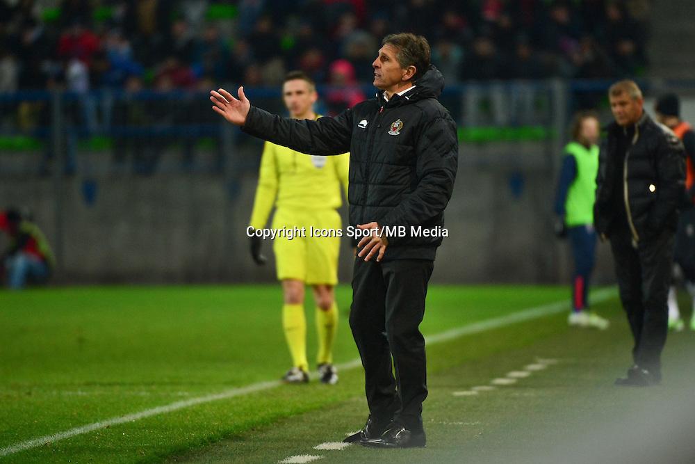 Claude PUEL - 06.12.2014 - Caen / Nice - 17eme journee de Ligue 1 -<br />Photo : Dave Winter / Icon Sport