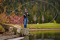 Pat Way, a guide with Orvis Northwest, leads anglers on fly fishing excursion throughout the Northwest.