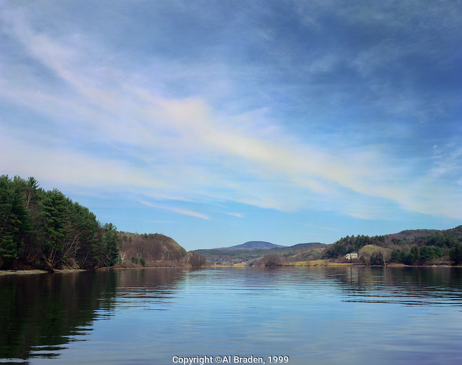Early spring on Connecticut River between Hanover, NH and Norwich, VT