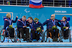 Angie Malone, Jim Gault, Bob McPherson, Gregor Ewan, Aileen Neilson, Wheelchair Curling Finals at the 2014 Sochi Winter Paralympic Games, Russia
