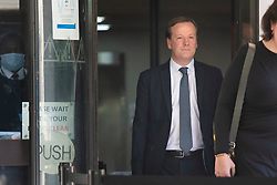 © Licensed to London News Pictures.30/07/2020. London, UK. Charlie Elphicke departs Southwark Crown court after  being found guilty of three counts of sexual assault against two women.  Photo credit: George Cracknell Wright/LNP