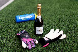 Sophie Baggaley of Bristol City player of the match and gloves after the final whistle of the match - Mandatory by-line: Ryan Hiscott/JMP - 07/09/2019 - FOOTBALL - Ashton Gate - Bristol, England - Bristol City Women v Brighton and Hove Albion Women - FA Women's Super League