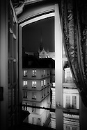 France. Paris. Elevated view.  Notre dame cathedral,  , saint Michel area , left bank. view.   from the hotel Melia Colbert