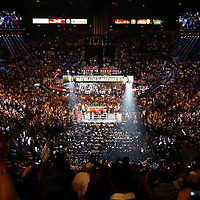LAS VEGAS, NV - SEPTEMBER 13: A general view of the ring before the Floyd Mayweather Jr. v Marcos Maidana WBC/WBA welterweight title fight at the MGM Grand Garden Arena on September 13, 2014 in Las Vegas, Nevada. (Photo by Alex Menendez/Getty Images) *** Local Caption *** Floyd Mayweather Jr; Marcos Maidana