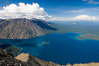 View of Kathleen Lake from Kings Throne Mountain, Kluane National Park Yukon Canada