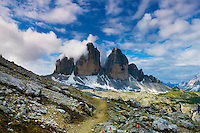 Mountain impression Tre Cime - Europe, Italy, South Tyrol, Sexten Dolomites, Tre Cime - Forenoon - July 2009 - Mission Dolomites Tre Cime