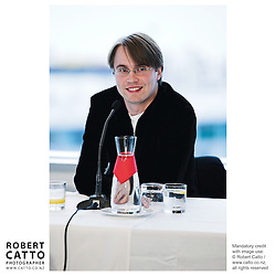 Pietari Inkinen at the Press conference announcing Pietari Inkinen as the NZSO's Music Director at Minter Ellison, The Lumley Centre, Auckland