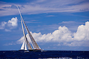 Hanuman sailing in the Caribbean Superyacht Regatta and Rendezvous, race 1.
