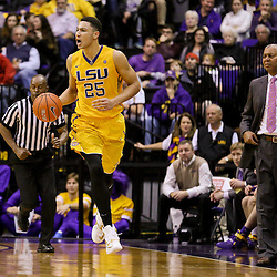 Jan 16, 2016; Baton Rouge, LA, USA; LSU Tigers forward Ben Simmons (25) drives against the Arkansas Razorbacks during the first half of a game at the Pete Maravich Assembly Center. Mandatory Credit: Derick E. Hingle-USA TODAY Sports