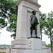 John Paul Jones Memorial in West Potomac Park next to Washington DC's National Mall. The memorial honors John Paul Jones, the United States' first naval war hero and father of the United States Navy.