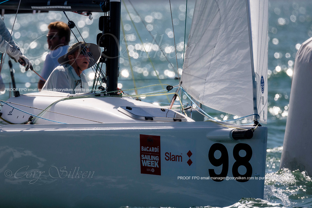 898 J70 Class sailing at Bacardi Miami Sailing Week.