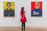 Rose Larock Granoff, 1971, and Rene Barotte, 1970 - Princess Fahrelnissa Zeid: the UK's first retrospective of a pioneering artist best known for her large-scale colourful canvases, fusing European approaches to abstract art with Byzantine, Islamic and Persian influences. The exhibition is at Tate Modern from 13 June – 8 October 2017.